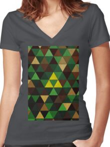 Triforce Quest Women's Fitted V-Neck T-Shirt