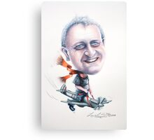 Caricature of Ian on a Spitfire 2010 Canvas Print