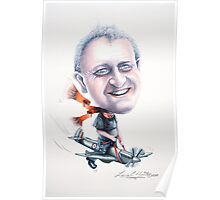Caricature of Ian on a Spitfire 2010 Poster