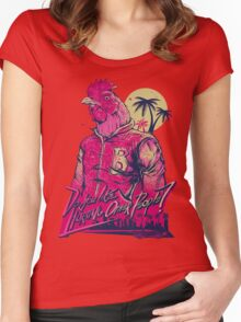 hotline miami richard Women's Fitted Scoop T-Shirt