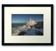 Shore Acres High Surf  Framed Print