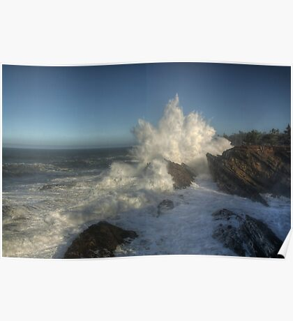 Shore Acres High Surf  Poster