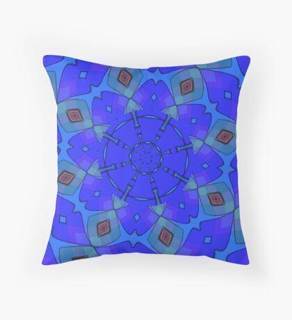 Modern Blue Scarf Throw Pillow