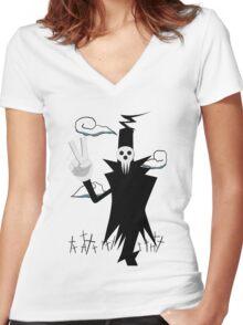 soul eater death anime manga shirt Women's Fitted V-Neck T-Shirt