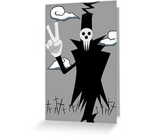soul eater death anime manga shirt Greeting Card