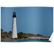 Miami Beach Light House Poster