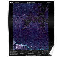 USGS Topo Map Oregon Williams 282107 1996 24000 Inverted Poster