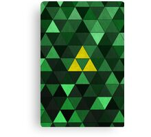 Triforce Quest (Green) Canvas Print