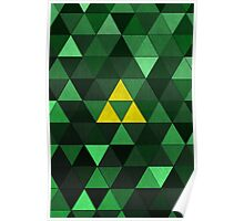 Triforce Quest (Green) Poster