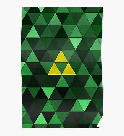 Triforce Quest (Green) Poster
