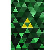 Triforce Quest (Green) Photographic Print