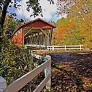 Everett Road Covered Bridge in Autumn by Ray4cam