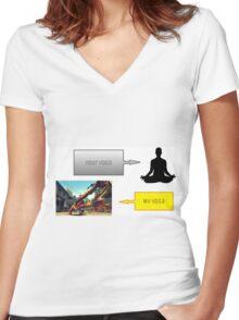Street Fighter Yoga 2 Women's Fitted V-Neck T-Shirt