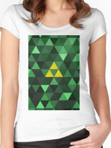 Triforce Quest (Green) Women's Fitted Scoop T-Shirt