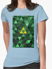 Triforce Quest (Green) Womens Fitted T-Shirt