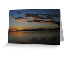 Sunset at Bribie Island - A bit later Greeting Card