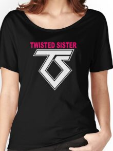 New TWISTED SISTER Old School Rock Band Women's Relaxed Fit T-Shirt