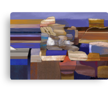"""Desert Rocks"" - colorful stacks of Arizona rocks. Canvas Print"