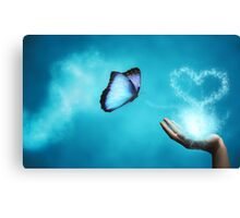 Two souls, one heart Canvas Print