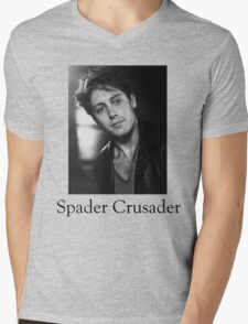Spader Crusader Mens V-Neck T-Shirt