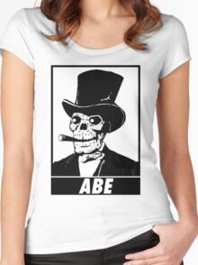 ZombieHIPPY • ABE #1 Women's Fitted Scoop T-Shirt