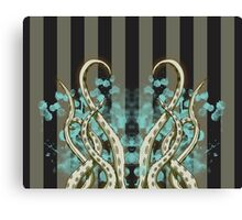 Octopus Tentacle Spatter Canvas Print