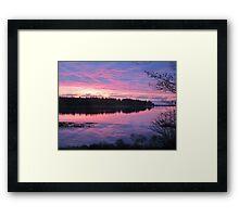 Sunrise over Oak Island, Nova Scotia Framed Print