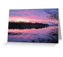 Sunrise over Oak Island, Nova Scotia Greeting Card