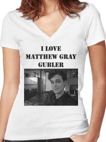 I <3 Matthew Gubler Tee Women's Fitted V-Neck T-Shirt