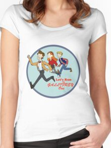 Let's Run to Gallifrey One Women's Fitted Scoop T-Shirt