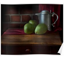 Pear and Pitcher Still Life Poster