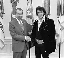 Richard Nixon and Elvis Presley at the White House by midcenturypress