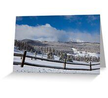 TenMile Range in Winter Greeting Card