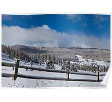 TenMile Range in Winter Poster