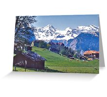 Wengen and the Bernese Oberland Greeting Card