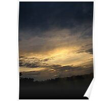 Sunset Passing By Poster