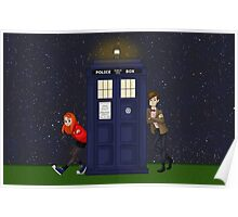 Amy Pond, the Doctor, and the TARDIS Poster