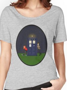 Amy Pond, the Doctor, and the TARDIS Women's Relaxed Fit T-Shirt