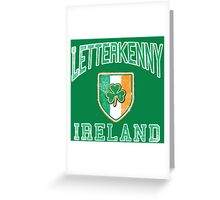 Letterkenny, Ireland with Shamrock Greeting Card