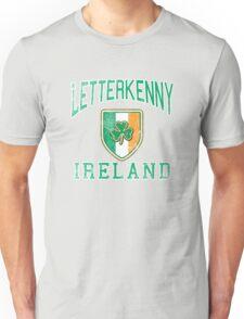 Letterkenny, Ireland with Shamrock Unisex T-Shirt