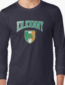 Kilkenny, Ireland with Shamrock Long Sleeve T-Shirt