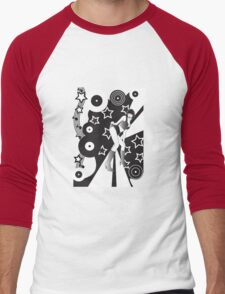 Retro Glam Discotheque Red Men's Baseball ¾ T-Shirt