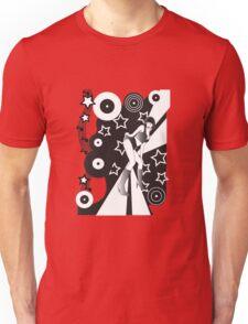 Retro Glam Discotheque Red Unisex T-Shirt