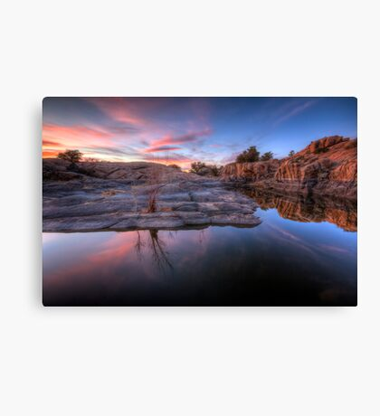 Cliff Difference Canvas Print