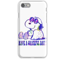 snoopy grateful day iPhone Case/Skin