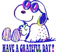 snoopy grateful day by chinacat65
