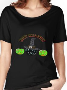 A Pumpkin Witch Happy Halloween scarf, etc. design Women's Relaxed Fit T-Shirt