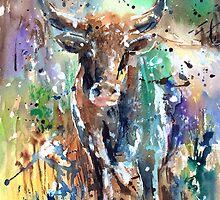 Longhorn Steer by arline wagner