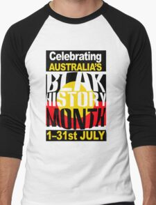 Australia's BLAK HISTORY MONTH [-0-] Men's Baseball ¾ T-Shirt
