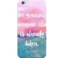 Oscar Wilde quote iPhone Case/Skin